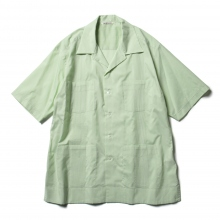 AURALEE / オーラリー | FINX SILK STRIPE CUBA SHIRTS - Lime Green Stripe