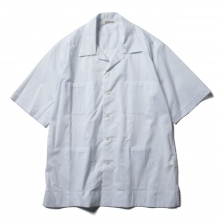 AURALEE / オーラリー | FINX SILK STRIPE CUBA SHIRTS - White Stripe