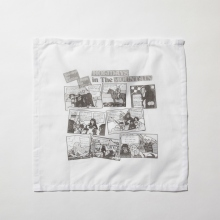 ....... RESEARCH | Handkerchief - HOLIDAYカートゥーン - White