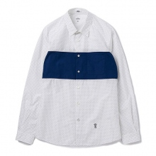 BEDWIN / ベドウィン | L/S BROAD DOT PANEL SHIRT 「COLIN」 - White