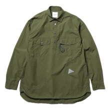and wander / アンドワンダー | CORDURA typewriter long sleeve over shirt - Khaki