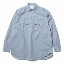 and wander / アンドワンダー | CORDURA typewriter long sleeve over shirt - L.Blue