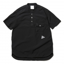 and wander / アンドワンダー | CORDURA typewriter short sleeve over shirt (M) - Black