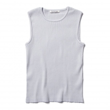 AURALEE / オーラリー | HIGH GAUGE RIB KNIT SLEEVELESS (レディース) - Light Blue