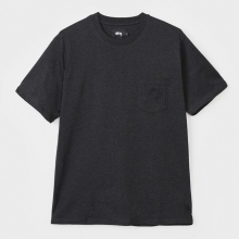STUSSY / ステューシー | Heather O'Dyed S/SL Pocket Tee - Black Heather ★