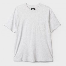 STUSSY / ステューシー | Heather O'Dyed S/SL Pocket Tee - White Heather ★