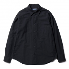 Living Concept / リビングコンセプト | SOLID REGULAR COLLAR L/S SHIRT - Navy