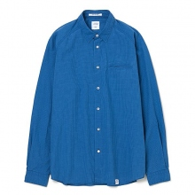 BEDWIN / ベドウィン | L/S ELBOW PATCH SHIRT 「EASTON」 - Blue