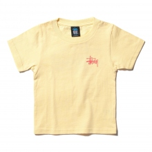 STUSSY / ステューシー | Kids Basic Stussy Tee - Pale Yellow ★