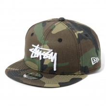 STUSSY / ステューシー | Kids Camo Stock New Era Ball Cap - Woodland