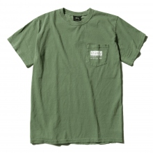 STUSSY / ステューシー | Classic Roots Pigment Dye Pocket Tee - Olive