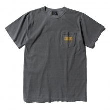 STUSSY / ステューシー | Classic Roots Pigment Dye Pocket Tee - Black ★