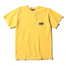 STUSSY / ステューシー | Classic Roots Pigment Dye Pocket Tee - Faded Yellow ★