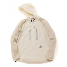 and wander / アンドワンダー | tech hoodie - Off White