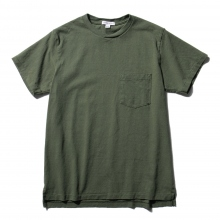 ENGINEERED GARMENTS / エンジニアドガーメンツ | EG Workaday Crossover Neck Pocket Tee - Olive