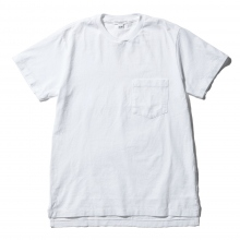 ENGINEERED GARMENTS / エンジニアドガーメンツ | EG Workaday Crossover Neck Pocket Tee - White