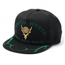 South2 West8 / サウスツーウエストエイト | Apollo Cap - Deer Skull & Horn - Black