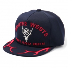 South2 West8 / サウスツーウエストエイト | Apollo Cap - Deer Skull & Horn - Navy