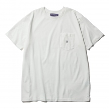 NEPENTHES / ネペンテス | NEPENTHES Purple Label - N Emb. Pocket Tee - Off White