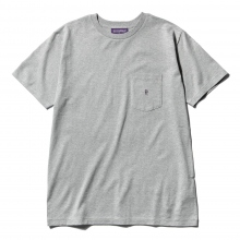 NEPENTHES / ネペンテス | NEPENTHES Purple Label - N Emb. Pocket Tee - Grey