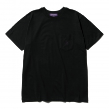 NEPENTHES / ネペンテス | NEPENTHES Purple Label - N Emb. Pocket Tee - Black