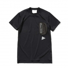 and wander / アンドワンダー | polyester seamless long T - Black