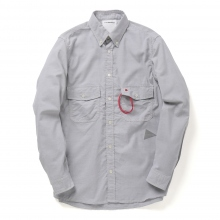 and wander / アンドワンダー | dry ox shirt (M) - Gray