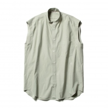 AURALEE / オーラリー | WASHED FINX TWILL SLEEVELESS SHIRTS (レディース) - Light Green