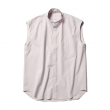 AURALEE / オーラリー | WASHED FINX TWILL SLEEVELESS SHIRTS (レディース) - Light Purple