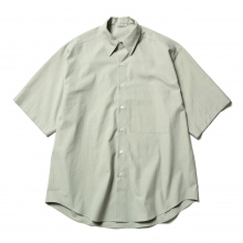 AURALEE / オーラリー | WASHED FINX TWILL HALF SLEEVED BIG SHIRTS - Light Green