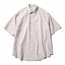 AURALEE / オーラリー | WASHED FINX TWILL HALF SLEEVED BIG SHIRTS - Light Purple