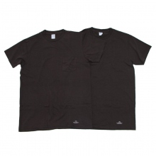 UNIVERSAL PRODUCTS / ユニバーサルプロダクツ | VELVA SHEEN 2PACK T-SHIRTS - Black