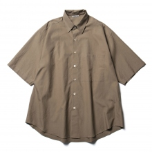 AURALEE / オーラリー | WASHED FINX TWILL HALF SLEEVED BIG SHIRTS - Brown