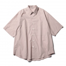 AURALEE / オーラリー | WASHED FINX TWILL HALF SLEEVED BIG SHIRTS - Light Pink