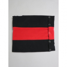 ....... RESEARCH | Neck Gaiter - フリース - Black × Red
