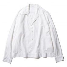 URU / ウル | OPEN COLLAR L/S SHIRTS / COTTON SILK WEATHER - White