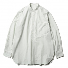 URU / ウル | STAND COLLAR L/S SHIRTS / COTTON PIN WEATHER - L.Mint