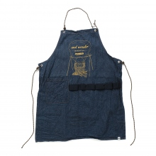 and wander / アンドワンダー | printed denim apron - Navy