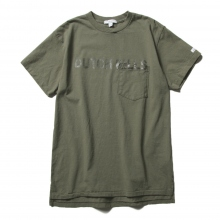 ENGINEERED GARMENTS / エンジニアドガーメンツ | Printed Cross Crew Neck T-shirt - Dutchkills - Olive