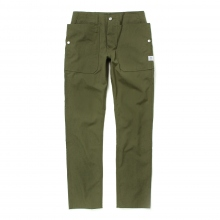 SASSAFRAS / ササフラス | FALL LEAF SPRAYER PANTS - Weeds Poplin - Olive ★