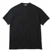 AURALEE / オーラリー | SEAMLESS CREW NECK TEE - Black