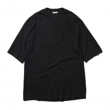 AURALEE / オーラリー | SEAMLESS CREW NECK HALF SLEEVED TEE - Black