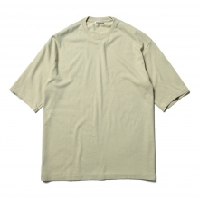 AURALEE / オーラリー | SEAMLESS CREW NECK HALF SLEEVED TEE - Khaki Green