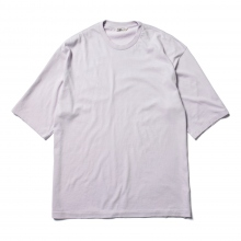 AURALEE / オーラリー | SEAMLESS CREW NECK HALF SLEEVED TEE - Light Purple