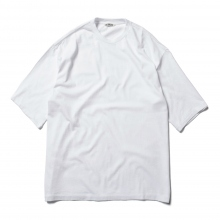 AURALEE / オーラリー | SEAMLESS CREW NECK HALF SLEEVED TEE - White