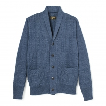 Stevenson Overall Co | Indigo Shawl Collar Cardigan - SC - Faded Indigo