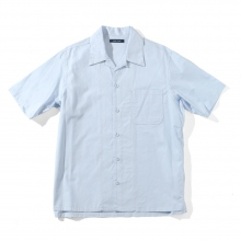 Living Concept / リビングコンセプト | OPEN COLLAR S/S SHIRT - L.Blue