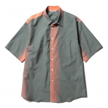 AURALEE / オーラリー | WASHED FINX GRADATION DYED HALF SLEEVED SHIRTS - Evening Ink Black