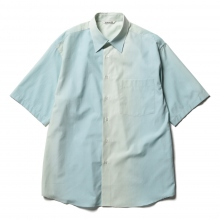 AURALEE / オーラリー | WASHED FINX GRADATION DYED HALF SLEEVED SHIRTS - Morning Blue