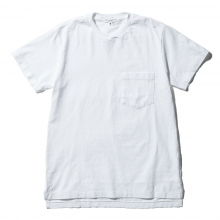 ENGINEERED GARMENTS / エンジニアドガーメンツ | EG Workaday Crossover Neck Pocket Tee - Solid - White